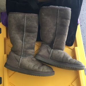 VINTAGE Classic Tall UGG boots gray sz 8
